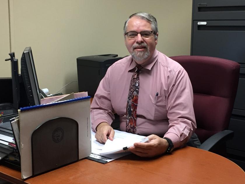 John Coraor at his desk